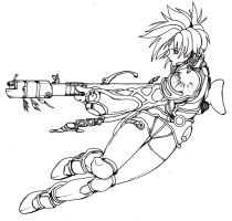 Iria Mid Jump  Lineart by pickofdestiny