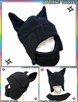 Ninja Neko Aviator with Velcro Mask by AnimeNomNoms