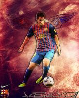 Lionel Messi barca angel by vekyR1