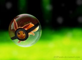 Eevee Pokeball by iDJPanda