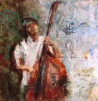 contrabajo.double bass III by Ana7hema