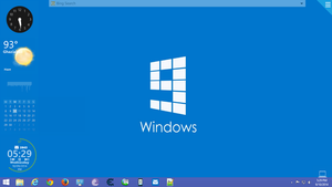 My Windows 8.1 Desktop with OMNIMO UI by amitrahi04
