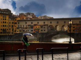 on ponte vecchio by VaggelisFragiadakis