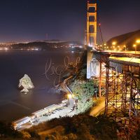 Golden Gate Night by EliyaLightBay