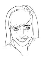 Self-Portrait Lineart by DinaCardillo