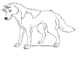 Generic Wolf Line Art by LoboSong