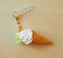 Yoghurt Ice cream phone plug by ateliermelodie