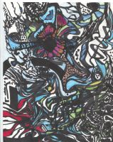 Colored Collaborated Drawing by WWKnauth