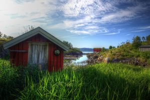 Red Cabins by Azagh