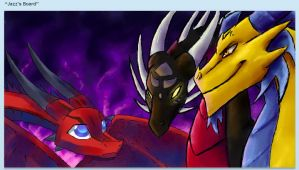 Teh Iscribble Dragons by JazzTheTiger