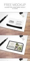 Free Business Card Mockup by J32 Design by es32