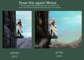 Altair (Before and after meme) by AmeDvleec
