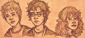 Golden Trio by inthelaurels