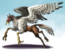 Buckbeak colored by LynxGriffin