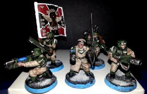 Warhammer 40k - Imperial Guard Command Squad by Aaramus