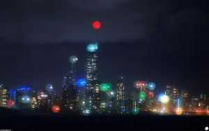 City of Blinding lights by ThEReAlWaZzAr