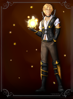Alistair Haydn - Fire Magister, Academy of Heroes by DjRoguefire