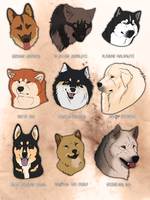 My Favorite dog breeds by Grypwolf