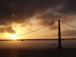 Golden Gate Sunrise I by animechic1029