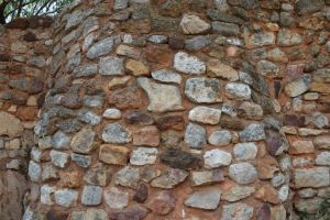 Ochre and stones wall by A1Z2E3R
