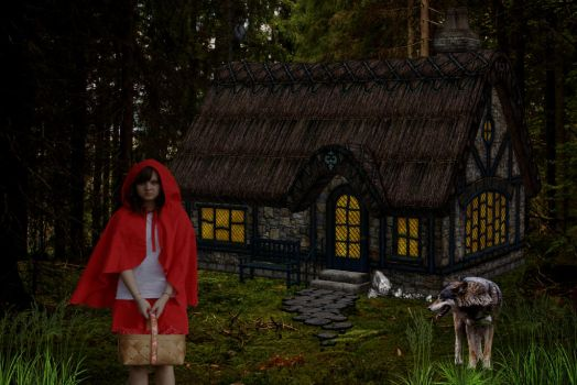 Cottage In The Woods by Shirley-Agnew-Art
