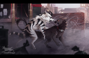 Streetfight [collab with I-eat-dogs] by Velkss