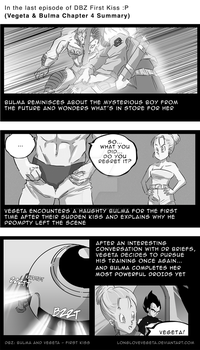 DBZ FIRST KISS CH.4 SUMMARY: (WARNING SPOILERS!!) by longlovevegeta