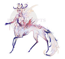 [CLOSED] adopts auction - White deer by Polis-adopts