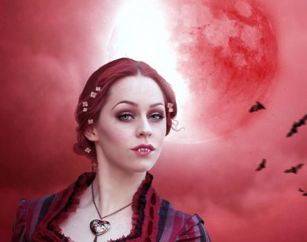 ...Blood Moon... Close up by Lady-Lilith666