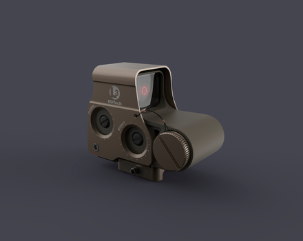 Holographic weapon sight by Obey-art