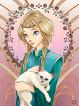 Elyon With Kitten by eivillin