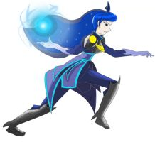 Princess Luna ver 2.0 Battle Mode (Humanized) by blossomxdexter4eva
