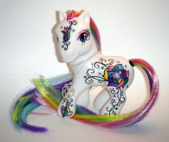 Rainbow Rose for ZarineBashire by kalavista