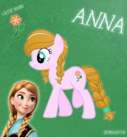 Anna Pony From Frozen (No Cloth) by Doragoon