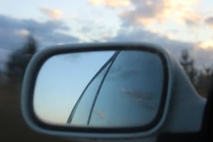 Sky in the Side Mirror by ArchaicMosaic