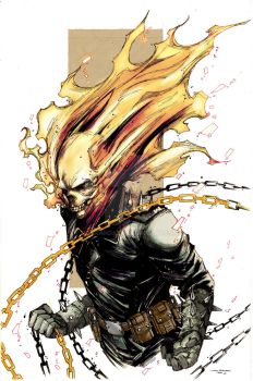 Ghost Rider Colored Ver. by vonrandal
