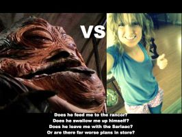 Me vs Jabba the Hutt by HollyGetMunched