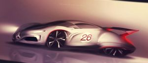 Mercedes '40 quick rendering by GLoRin26