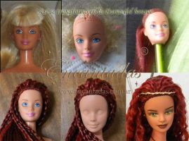 LADY OF THE FOREST (OOAK CUSTOMIZED DOLL) Process by Encantadas