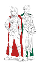 Elric brothers in Asgardian brothers costume by SBum102
