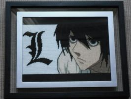 L - Cross Stitch by Karma-Pudding