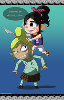 Captain Vanellope and Tetra von Schweetz by FantasyFreak-FanGirl