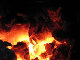 coal fire by Its-Only-Stock