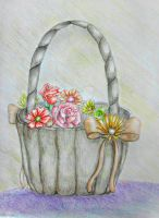 Basket Flowers by 123thuraya