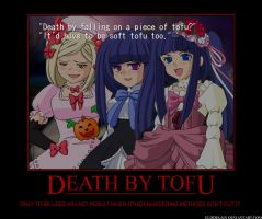 MotivPoster: Death By Tofu by ElderKain