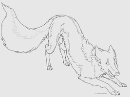 -Free to Use- playful pose line-art by SuperiorIntellect