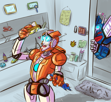 Commission: Rung and Ultra Magnus by Fulcrumisthebomb