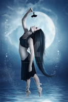 Moon Goddess by EnchantedWhispersArt
