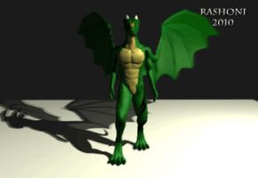Animated Dragon WalkCycle 3 by Rashoni