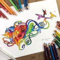 Swirly Wolf- Coloring Book Pre Release by Lucky978